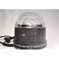 Светодиодный Диско-шар (LED RGB Сrystall Magic Ball Light) 577м без Bluetooth