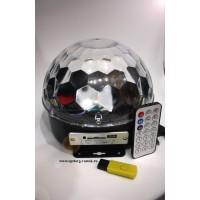 Светодиодный Диско-шар (LED RGB Сrystall Magic Ball Light) 577 без Bluetooth