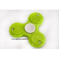 Зелёный спиннер с подсветкой+предохранитель