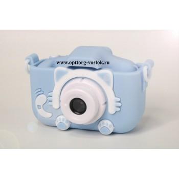 "Детская камера Children's fun Camera Cute Kitty ""Голубой котёнок"""